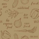 Het naadloze patroon van het voedsel Stock Afbeeldingen