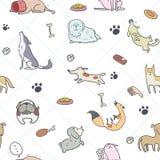 Het naadloze patroon van Honden royalty-vrije illustratie