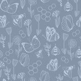 Het naadloze patroon van Honey Meadows Royalty-vrije Stock Afbeeldingen