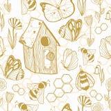 Het naadloze patroon van Honey Meadows Stock Afbeelding