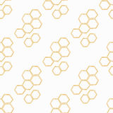 Het naadloze patroon van Honey Meadows Royalty-vrije Stock Fotografie