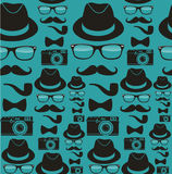 Het naadloze patroon van Indiehipsters royalty-vrije illustratie