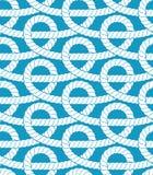 Het naadloze patroon van kabels Stock Fotografie