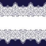 Het naadloze patroon van het kant Royalty-vrije Stock Afbeelding