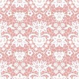 Het naadloze patroon van het kant met bloemen Royalty-vrije Stock Afbeeldingen