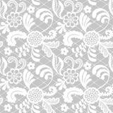 Het naadloze patroon van het kant met bloemen Stock Afbeeldingen