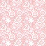 Het naadloze patroon van het kant met bloemen Royalty-vrije Stock Afbeelding