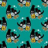 Het naadloze patroon van katten Royalty-vrije Stock Foto