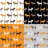 Het naadloze patroon van katten Stock Fotografie
