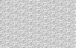 Het naadloze patroon van katten stock illustratie
