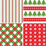 Het naadloze patroon van Kerstmis Stock Foto's