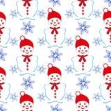 Het naadloze patroon van Kerstmis Royalty-vrije Stock Afbeeldingen