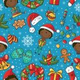 Het naadloze patroon van Kerstmis Royalty-vrije Stock Foto