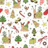 Het naadloze patroon van Kerstmis Stock Foto