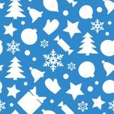 Het naadloze patroon van Kerstmis Stock Afbeelding
