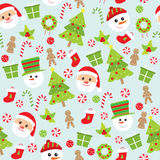 Het naadloze patroon van Kerstmis Royalty-vrije Stock Afbeelding