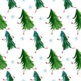Het naadloze patroon van Kerstmis Stock Afbeeldingen