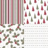 Het naadloze patroon van Kerstmis en van het Nieuwjaar Stock Foto