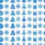 Het naadloze patroon van Kerstmis en van het Nieuwjaar Stock Afbeelding