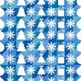 Het naadloze patroon van Kerstmis en van het Nieuwjaar Stock Foto's