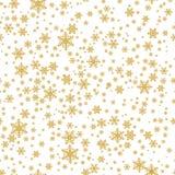Het naadloze patroon van Kerstmis met sneeuwvlokken royalty-vrije illustratie