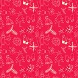 Het naadloze patroon van Kerstmis Vector illustratie Stock Foto's