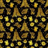 Het naadloze patroon van Kerstmis Vector illustratie Royalty-vrije Stock Foto