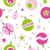 Het Naadloze Patroon van Kerstmisballen Stock Afbeelding