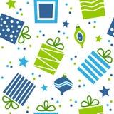 Het Naadloze Patroon van Kerstmisgiften Stock Afbeeldingen