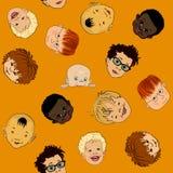 Het naadloze patroon van kinderen Stock Afbeelding