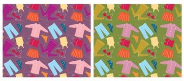 Het naadloze patroon van kleren. Vector achtergrond Stock Foto's