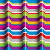 Het naadloze patroon van kleurengolven stock illustratie