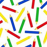 Het naadloze patroon van kleurenpotloden Stock Fotografie