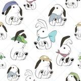 Het Naadloze Patroon van het konijn stock illustratie