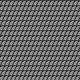 Het naadloze patroon van krabbelgolven Royalty-vrije Stock Afbeeldingen