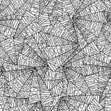 Het naadloze patroon van krabbels Royalty-vrije Stock Afbeeldingen