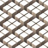 Het naadloze patroon van kubussen Royalty-vrije Illustratie