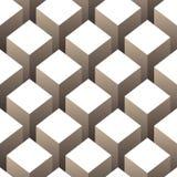Het naadloze patroon van kubussen Stock Illustratie