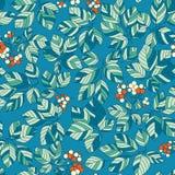 Het naadloze patroon van kunst groene bladeren Stock Afbeelding