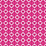 Het naadloze patroon van liefdeharten De dagachtergrond van Valentine ` s Romantische herhaalde textuur voor groetkaarten, uitnod royalty-vrije illustratie
