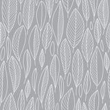Het Naadloze Patroon van het lijnblad in Grijs royalty-vrije illustratie