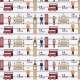 Het naadloze patroon van Londen Stock Foto