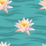 Het naadloze patroon van Lotus Stock Afbeelding