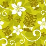 Het naadloze Patroon van Luau Tiki Royalty-vrije Stock Afbeelding