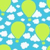 Het naadloze patroon van luchtballons Stock Foto's