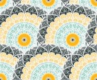 Het Naadloze Patroon van Mandala Royalty-vrije Stock Afbeeldingen