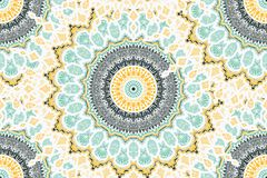 Het Naadloze Patroon van Mandala Stock Afbeeldingen