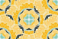 Het Naadloze Patroon van Mandala Stock Foto