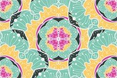 Het Naadloze Patroon van Mandala Royalty-vrije Stock Foto