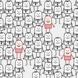 Het naadloze patroon van mensen Stock Afbeelding
